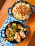 Galinhada do Zé com Espaguete ao Alho e Óleo (para 2)